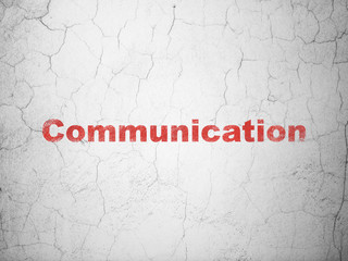 Advertising concept: Communication on wall background