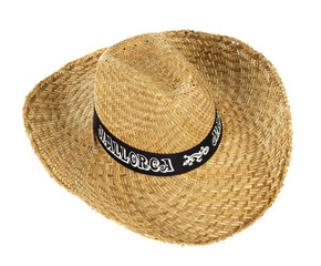 Straw hat that says Mallorca