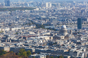 View of Paris from height of bird's flight