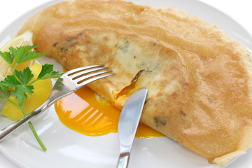 brik, egg and tuna turnover, tunisian food
