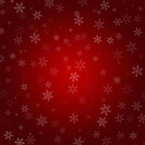 Red Abstract Radial Gradient Snowflake Christmas Background