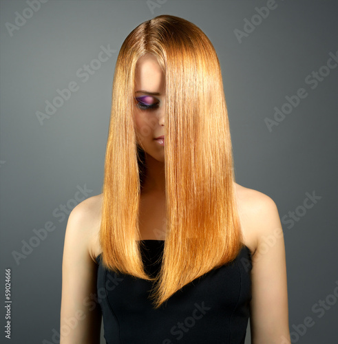 Girl with straight hair