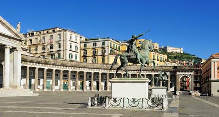 Piazza Plebiscito, Naples, Italy