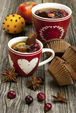 Fresh home baked  muffins with hot tea - 59025262