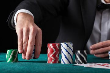 Croupier in casino