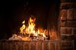 Leinwandbild Motiv Fire in fireplace