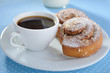Cinnamon buns and coffee