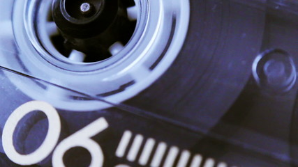 Audio Cassette Close Up