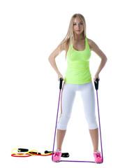 Slender model posing with stretching simulator