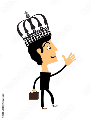 Businessman standing in the crown