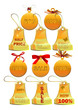 vector Christmas labels golden set
