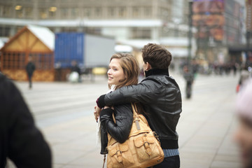 Tourist couple in the city