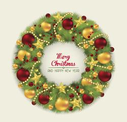 Christmas Wreath. Vector