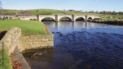 Burnsall bridge in the Yorkshire Dales, England, UK