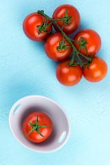 tomaten von oben