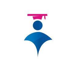 Graduated man logo
