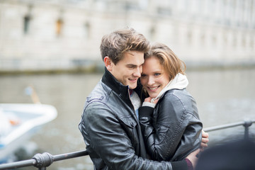 Happy couple in the city