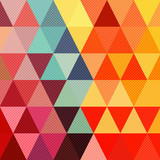 Abstract geometric background with soft retro colors