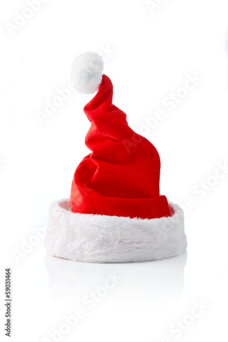 Santa hat strait and wrinkled