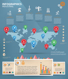Industrial,Oil,gas and firm,Information graphic,vector