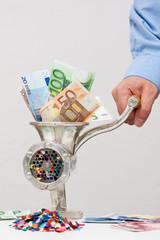 Symbolische Geldvernichtungsmaschine