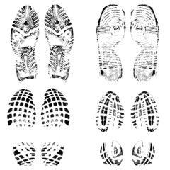 Set of shoes print