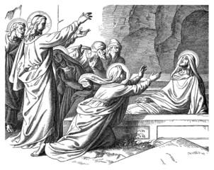 Biblical Scene : Resurrection of Lazarus - Miracle