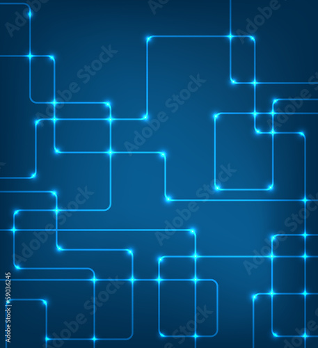 EPS10 vector modern hi-tech glowing background illustration