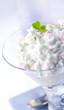 Closeup of a crab salad appetizer.