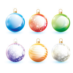 Set of christmas ball