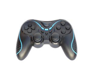 black joystick isolated on white background