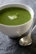 bowl of healthy vegetarian asparagus soup.
