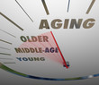 Aging Speedometer Fast Advancing Age Young to Old