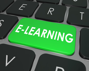 E-Learning Computer Keyboard Key Online Education School