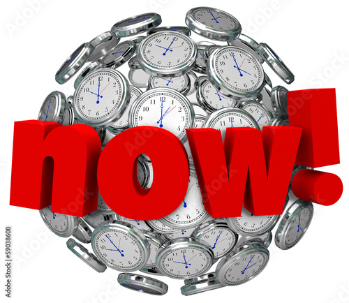 Now Word Clocks Time Passing Urgent Action Required