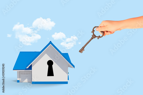 House with key hole