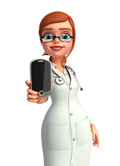 lady Doctor with mobile
