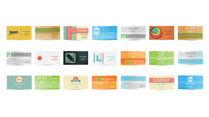 Set of Business Card in Vector illustration
