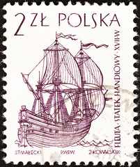 Dutch flute, 17th century (Poland 1964)