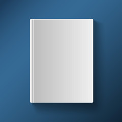 Blank book cover vector illustration gradient mesh