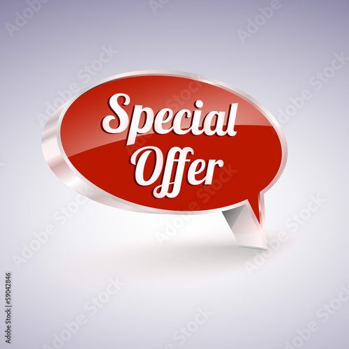 Special offer icon, speech and thought bubbles