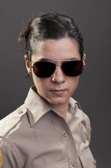 Female sheriff deputy