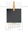 september 2014 photo frame calendar