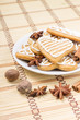 Christmas gingerbread cookies with spices