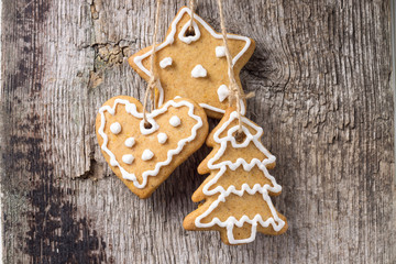Christmas decoration. Gingerbread Cookies Hanging