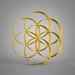 Saat des Lebens Gold in 3D