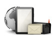 Tablet computer, mailbox and envelopes