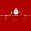 Santa & Symbols Red