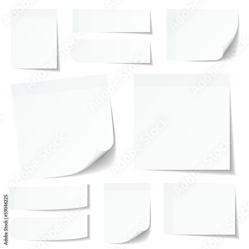 White Stick Notes Set