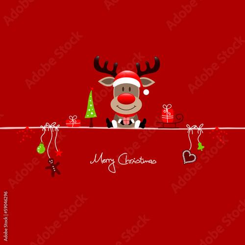 Reindeer & Symbols Red